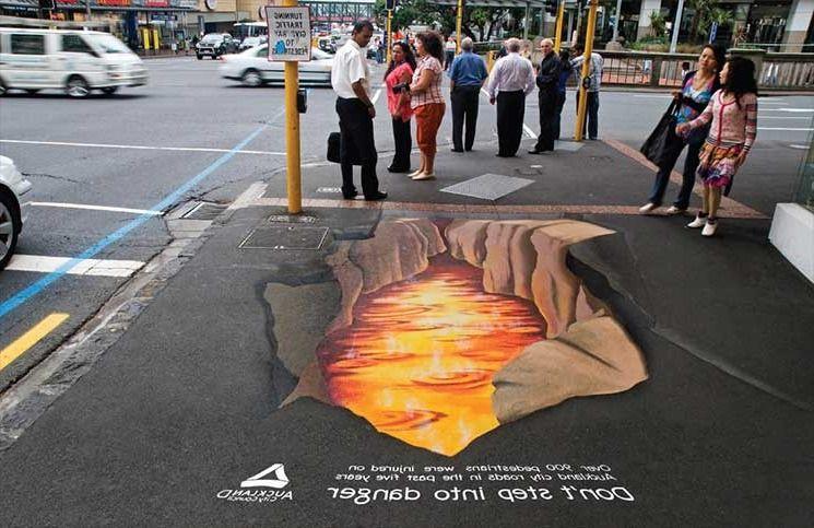 Ejemplo de publicidad BTL en la calle