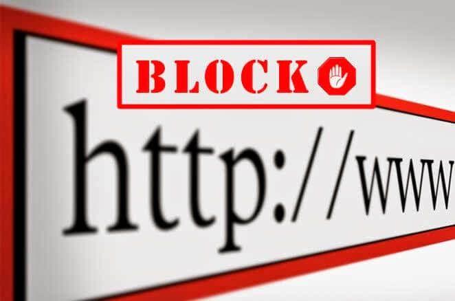 Cómo bloquear una página web 1