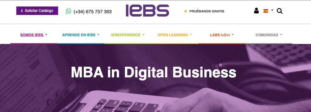iMBA impartido por IEBS