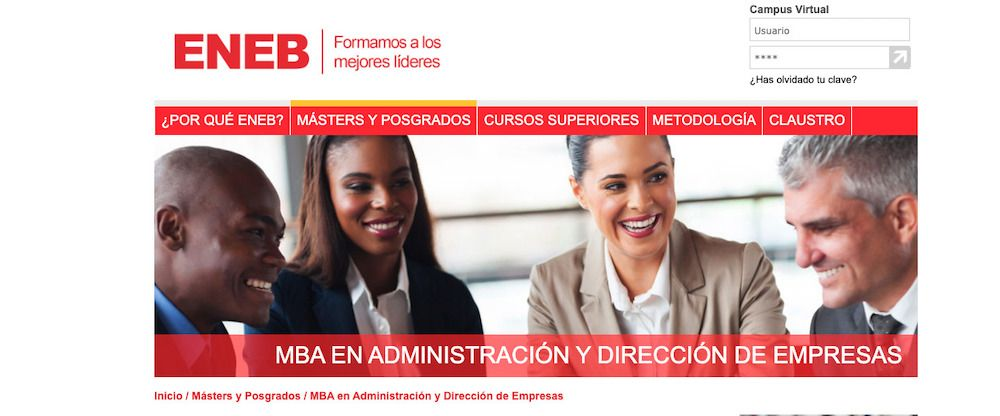 MBA impartido por la ENEB Business School
