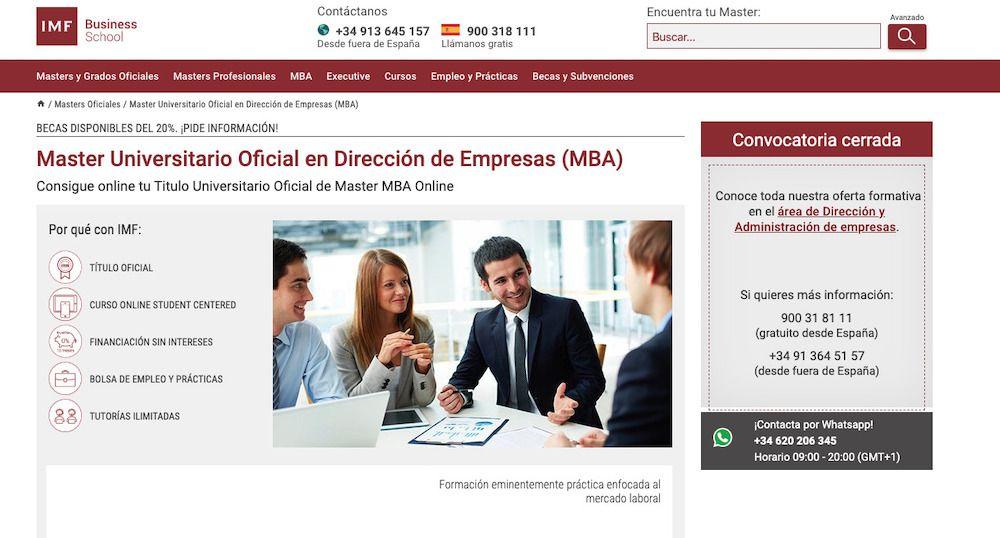 MBA impartido por la IMF