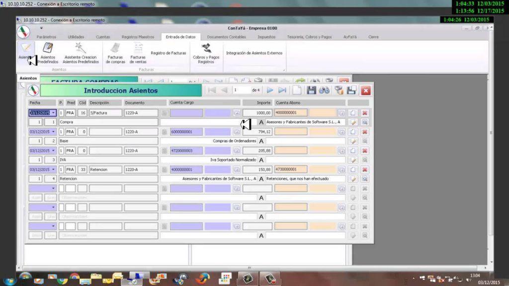 Captura del software ConTaYá