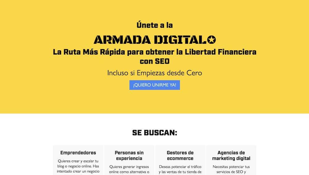 Página web de la Armada Digital